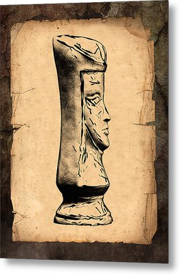 Chess Queen Metal Print by Tom Mc Nemar