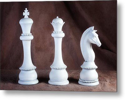 Chessmen V Metal Print by Tom Mc Nemar