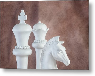 Chessmen Vi Metal Print by Tom Mc Nemar