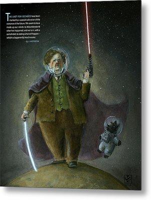 Chesterton In Space Metal Print by Theodore Schluenderfritz