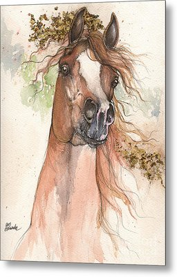 Chestnut Arabian Horse 2015 05 30 Metal Print by Angel  Tarantella