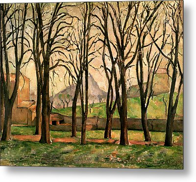 Chestnut Trees At The Jas De Bouffan Metal Print