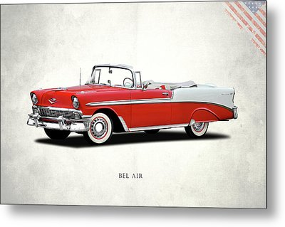 Chevrolet Bel Air 1956 Metal Print by Mark Rogan