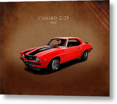 Chevrolet Camaro Z 28 Metal Print by Mark Rogan