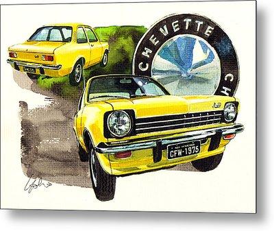 Chevrolet Chevette Sedan Metal Print by Yoshiharu Miyakawa