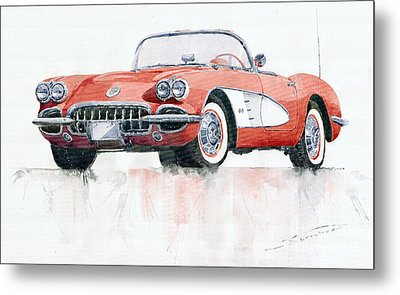 Chevrolet Corvette C1 1960  Metal Print