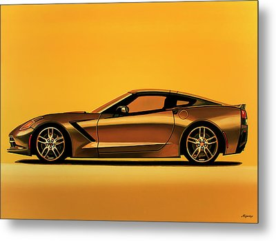 Chevrolet Corvette Stingray 2013 Painting Metal Print