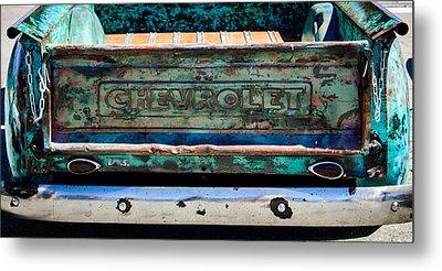 Chevrolet Truck Tail Gate Emblem -0839c Metal Print by Jill Reger