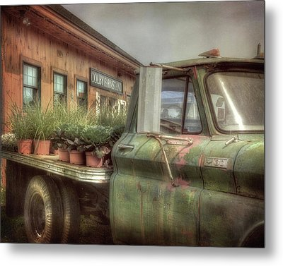 Metal Print featuring the photograph Chevy C 30 Pickup Truck - Colby Farm by Joann Vitali