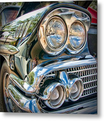 Chevy Impala 1958 Metal Print by Andreas Freund