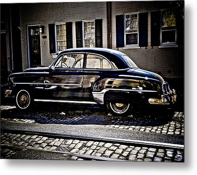 Chevy In Black Metal Print