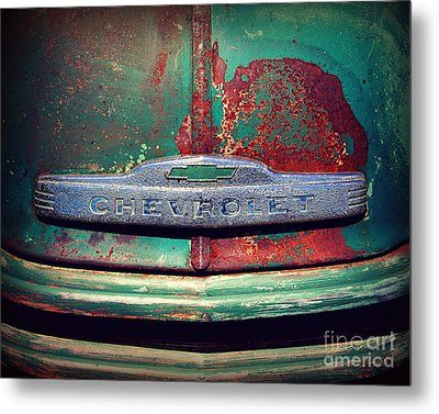 Chevy Rust Metal Print by Perry Webster