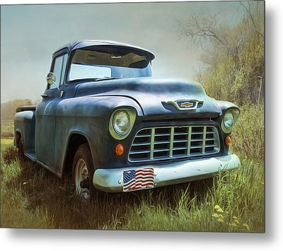 Metal Print featuring the photograph Chevy Truck by Robin-Lee Vieira