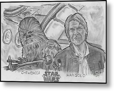 Chewie Were Home Metal Print by Chris  DelVecchio