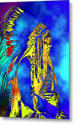 Cheyenne Chief Metal Print by Ben Freeman