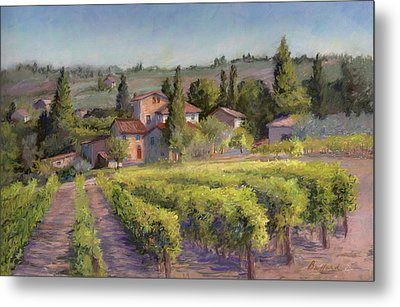 Chianti Vineyard Metal Print
