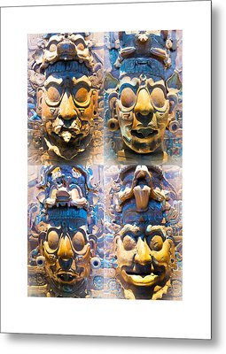 Metal Print featuring the photograph Chiapas Elders by John  Bartosik