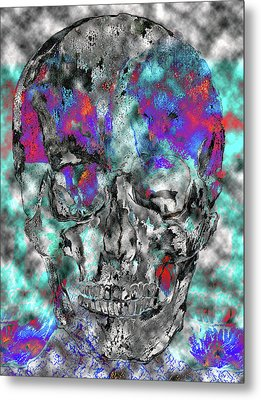 Chic Skull Metal Print