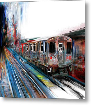Chicago 211 1 Metal Print by Mawra Tahreem