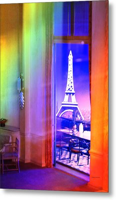 Chicago Art Institute Miniature Paris Room Pa Prismatic 08 Vertical Metal Print by Thomas Woolworth