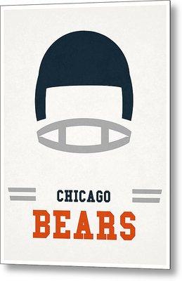 Chicago Bears Vintage Art Metal Print