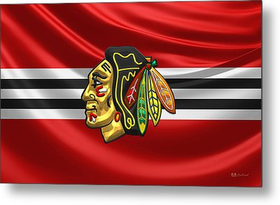 Chicago Blackhawks Metal Print by Serge Averbukh