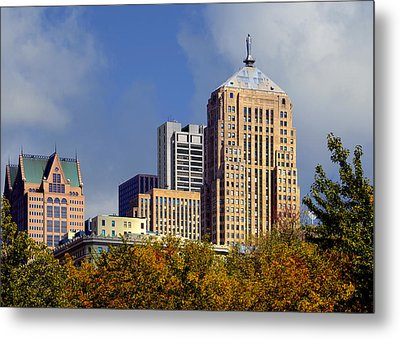Chicago Board Of Trade Building - Cbot Metal Print by Christine Till
