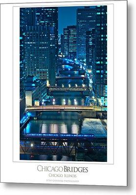 Chicago Bridges Poster Metal Print by Steve Gadomski