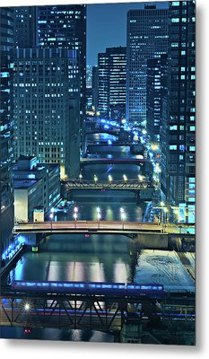 Chicago Bridges Metal Print by Steve Gadomski
