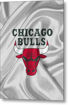 Chicago Bulls Metal Print by Afterdarkness