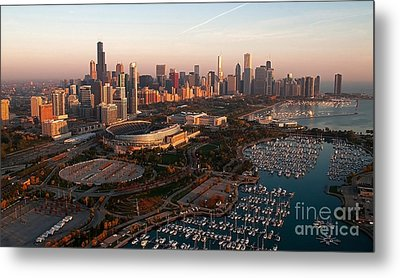 Chicago By Air Metal Print by Jeff Lewis