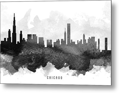 Chicago Cityscape 11 Metal Print by Aged Pixel