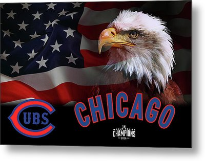 Chicago Cubs Champions 2016 Metal Print