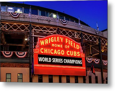 Chicago Cubs Win Metal Print