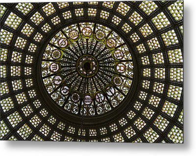Chicago Cultural Center Tiffany Dome 03 Metal Print by Thomas Woolworth