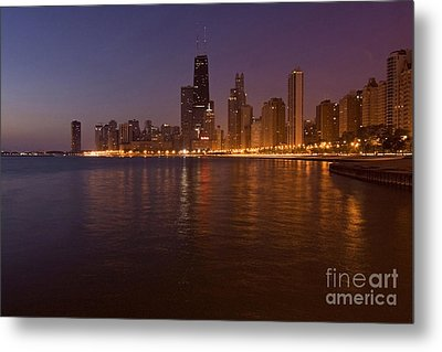 Chicago Dawn Metal Print by Sven Brogren