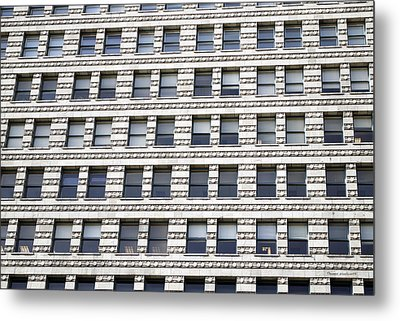 Chicago Downtown Window Facade Metal Print by Thomas Woolworth