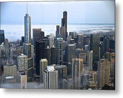 Chicago Fog Metal Print by Sheryl Thomas