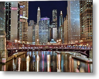 Chicago Full City View Metal Print by Frozen in Time Fine Art Photography