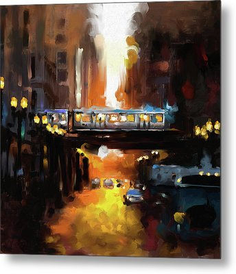Chicago II 474 1 Metal Print by Mawra Tahreem
