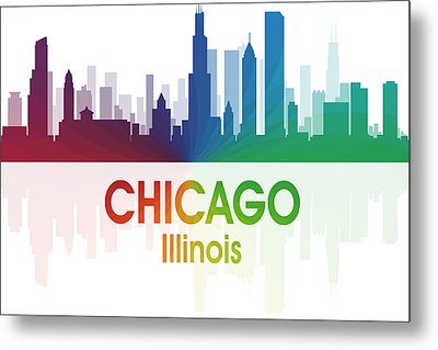 Chicago Il Metal Print by Angelina Vick