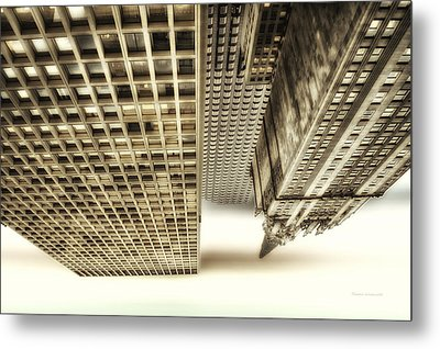 Chicago In November Church In The Clouds Pa Metal Print by Thomas Woolworth