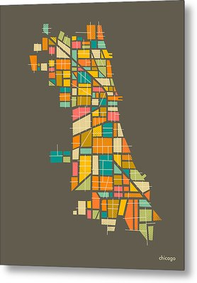 Chicago Metal Print by Jazzberry Blue