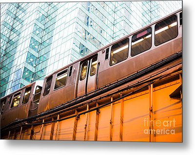 Chicago L Elevated Train  Metal Print by Paul Velgos
