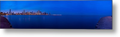 Chicago Lakefront Ultra Wide Hd Metal Print by Steve Gadomski