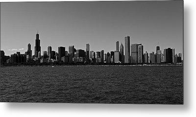 Chicago Lakeshore Skyline Metal Print by Miranda  Miranda