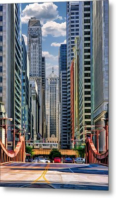 Metal Print featuring the painting Chicago Lasalle Street by Christopher Arndt