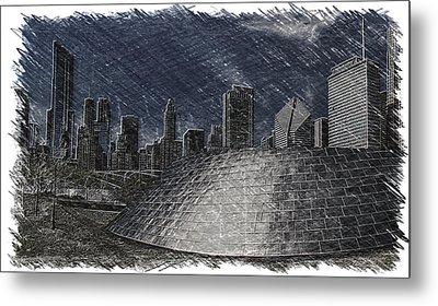Chicago Millennium Park Bp Bridge Pa 02 Metal Print by Thomas Woolworth