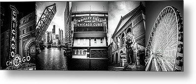 Chicago Panorama Collage High Resolution Photo Metal Print