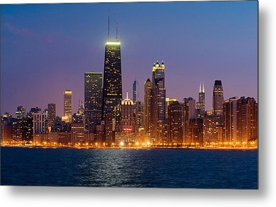Chicago Panorama Metal Print by Donald Schwartz